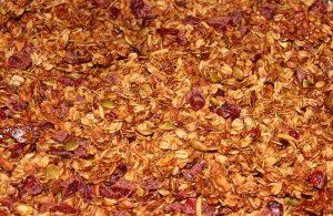 granola apple cider syrup