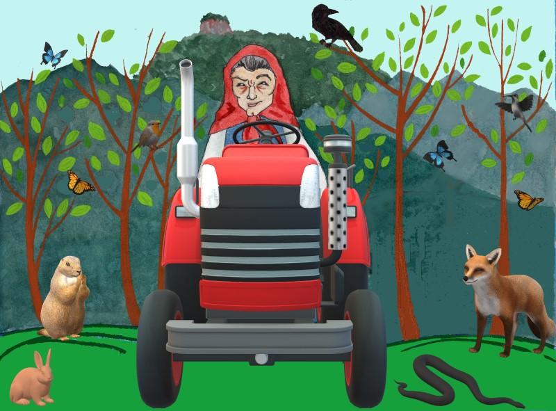 Tractor Baba Yaga